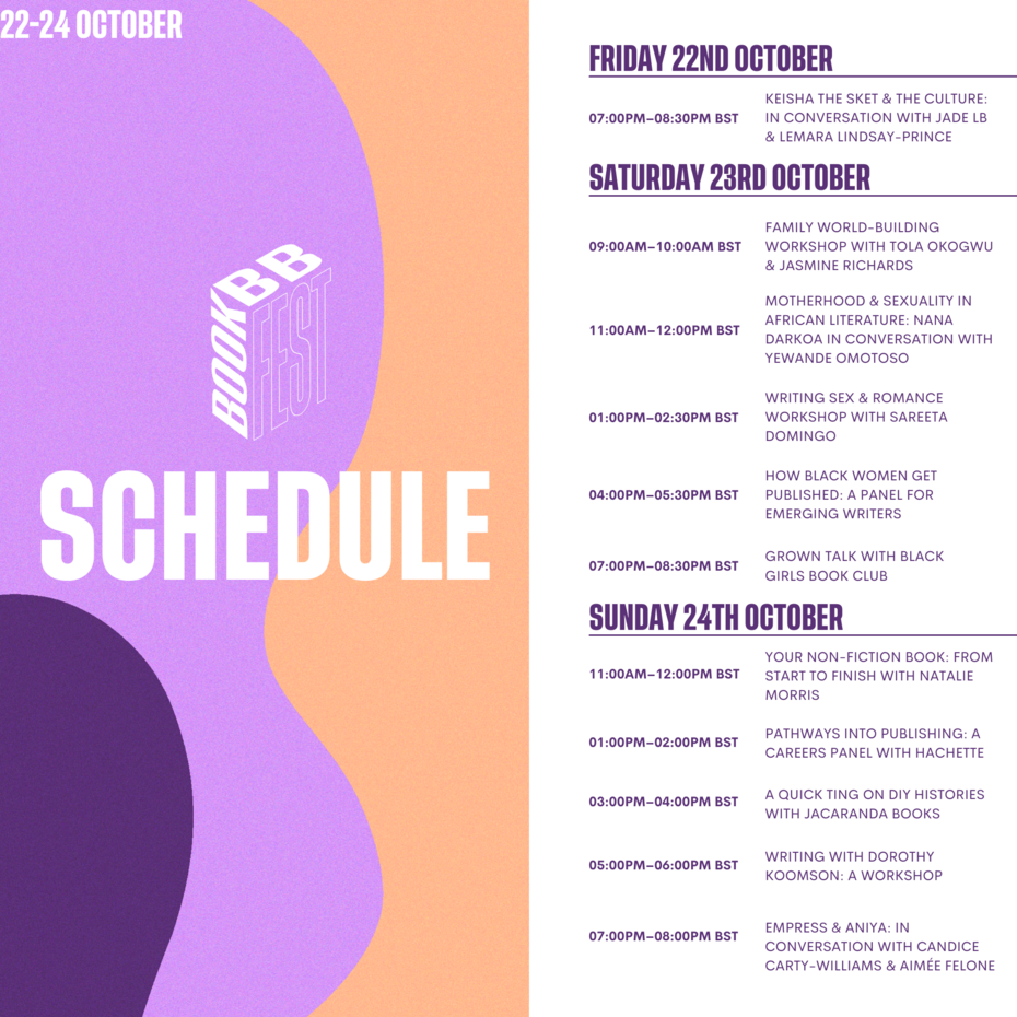 Schedule for Book Fest